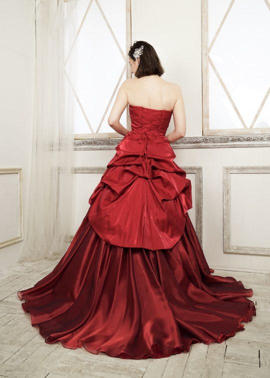 カラードレス 披露宴 1.5次会 2次会 赤 レッド シンプル
