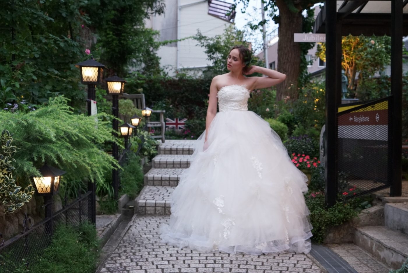 ウエディングドレス カジュアル チュール